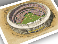 thumbnail of 13x19 print of Three Rivers Stadium