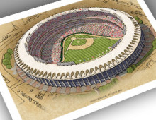 thumbnail of 13x19 print of Busch Stadium