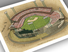thumbnail of 13x19 print of early Candlestick Park