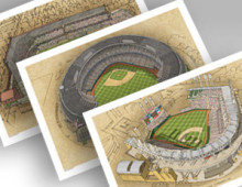 thumbnail of 3 cleveland ballpark 13x19 prints