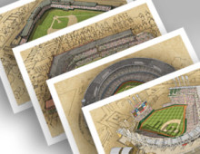 thumbnail of 4pack of Cleveland ballparks