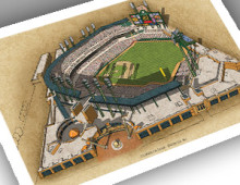 thumbnail of 13x19 print of Comerica Park