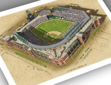 thumbnail of 13x19 print of Coors Field