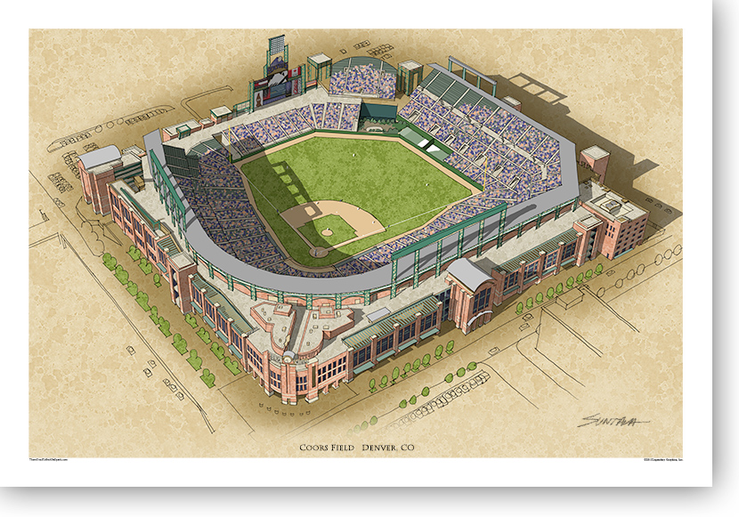 13x19 print of Coors Field