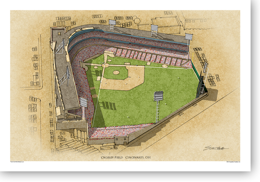 13x19 print of Crosley Field