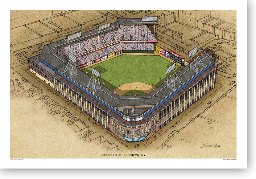 13x19 print of Ebbets Field