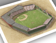 thumbnail of 13x19 print of early Fenway Park