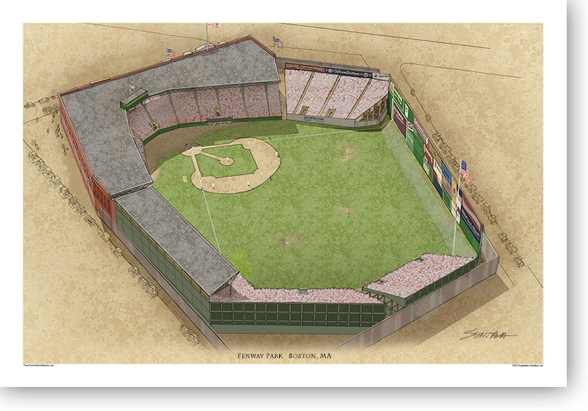 13x19 print of early Fenway Park