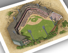 thumbnail of 13x19 print of Forbes Field