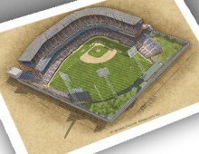 thumbnail of 13x19 print of KC Municipal Stadium