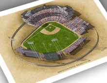 thumbnail of 13x19 print of early Metropolitan Stadium