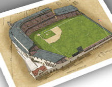 thumbnail of 13x19 print of Navin Field