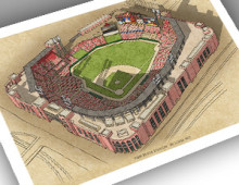 thumbnail of 13x19 print of New Busch Stadium
