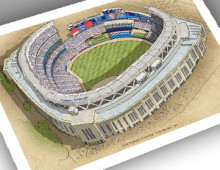 thumbnail of 13x19 print of New Yankee Stadium