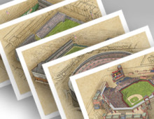 thumbnail of 5 philadelphia ballpark prints