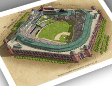 thumbnail of 13x19 print of Rangers Ballpark at Arlington