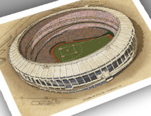 thumbnail of 13x19 print of Riverfront Stadium