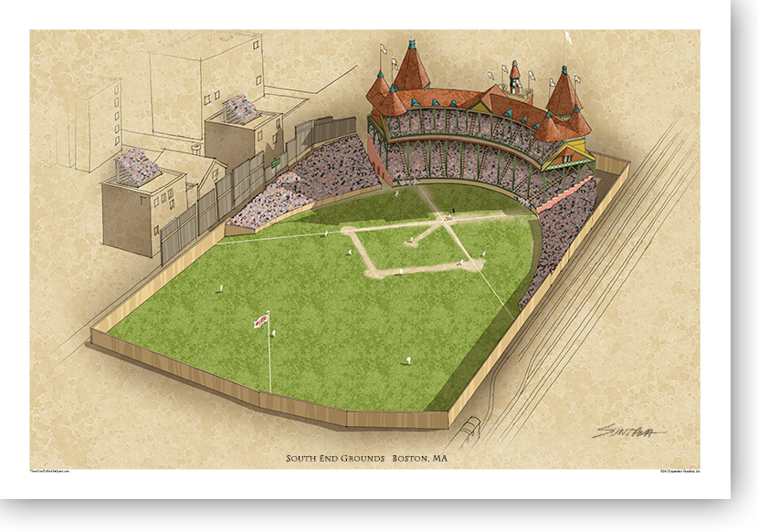 13x19 print of South End Grounds
