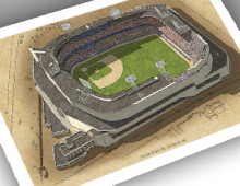 thumbnail of 13x19 print of Tiger Stadium