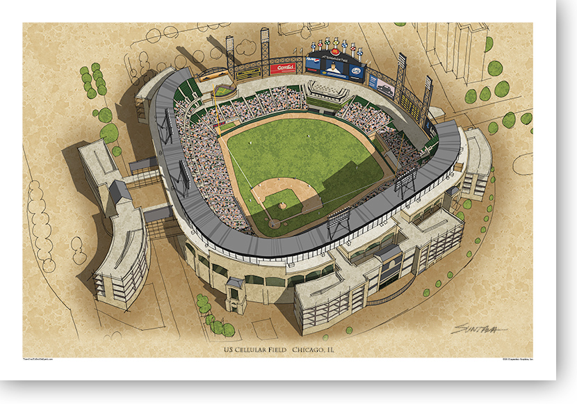13x19 print of US Cellular Field