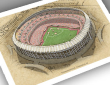 thumbnail of 13x19 print of Veterans Stadium