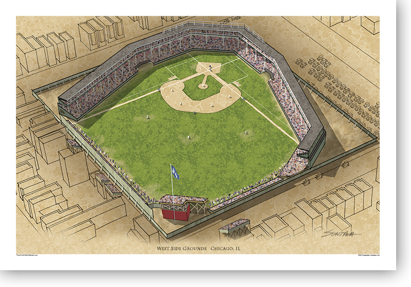 13x19 print of West Side Grounds