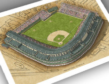 thumbnail of 13x19 print of 1930s Wrigley Field