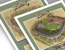 thumbnail of Both 11x14 inch Baltimore ballpark prints