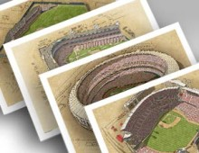thumbnail of 4 cincinnati ballpark prints