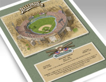 thumbnail of Signed 11 x 14 inch print of Memorial Stadium