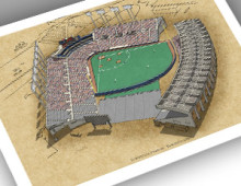 thumbnail of 13x19 print of Exhibition Stadium