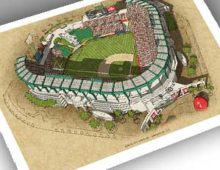 Thumbnail of 13x19 print of Angels Stadium