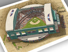 Thumbnail of 13x19 print of Chase Field