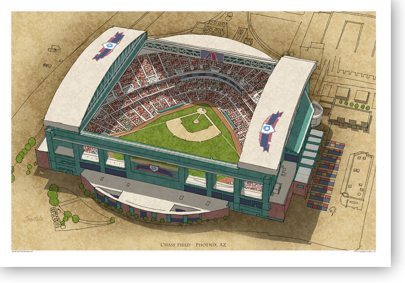 13x19 print of Chase Field signed by the artist