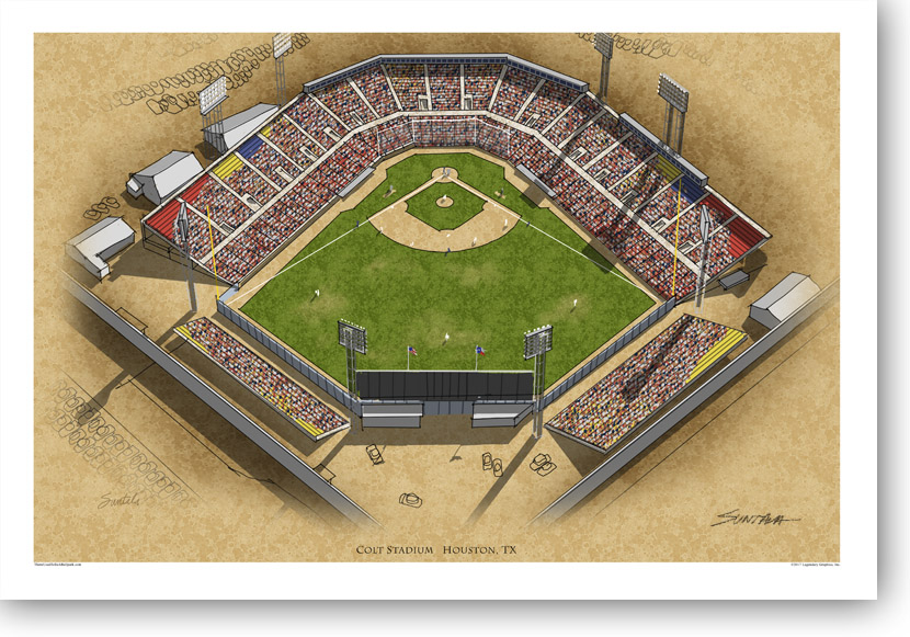 13x19 archival print of Colt Stadium