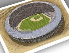 Thumbnail showing 13x19 print of Fulton County Stadium
