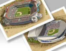 Thumbnail of 13x19 prints of both Miami ballparks.
