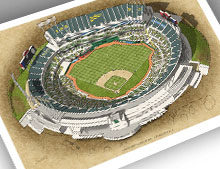 Thumbnail of 13x19 Oakland Coliseum print