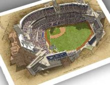 Thumbnail showing 13x19 print of Petco Park