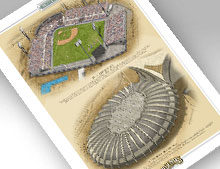 thumbnail of print featuring Parc Jarry and Stade Olympique